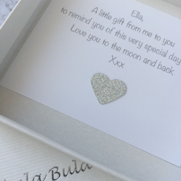 1st birthday silver jewellery gift for a daughter - FREE ENGRAVING